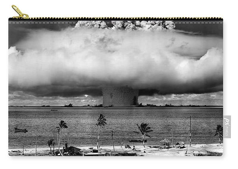 Atomic Carry-all Pouch featuring the photograph Rain Of Ruin by Benjamin Yeager