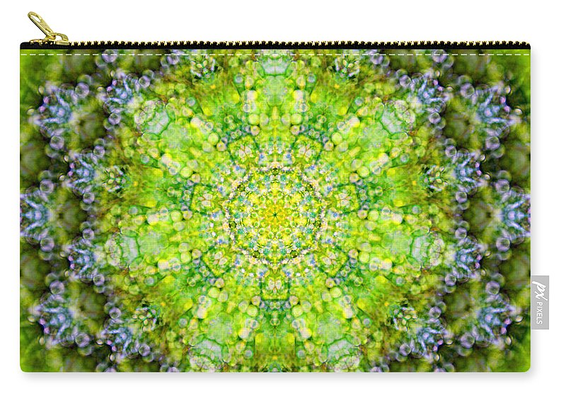Rainbow Carry-all Pouch featuring the photograph Lluvia Mandala by Susan Bloom