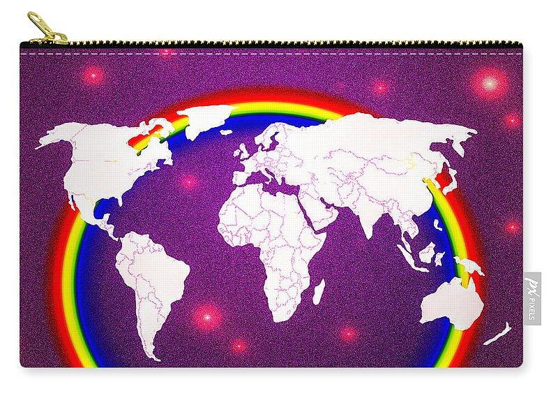 World Carry-all Pouch featuring the painting Rainbow's World 20 by Algirdas Lukas