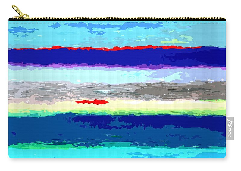 Abstract Carry-all Pouch featuring the painting Rainbow 5 by Patrick J Murphy
