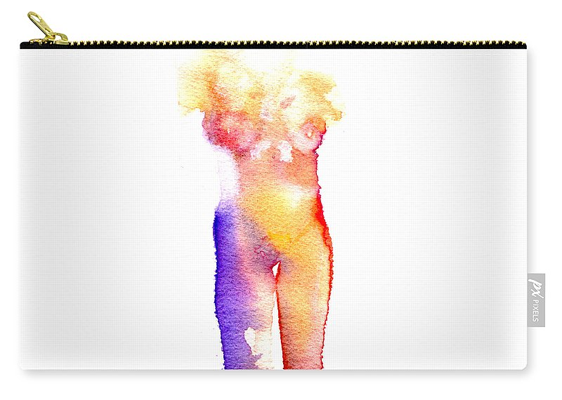 Watercolor Carry-all Pouch featuring the painting Rainbow Body Of Light by Nova Cynthia Barker