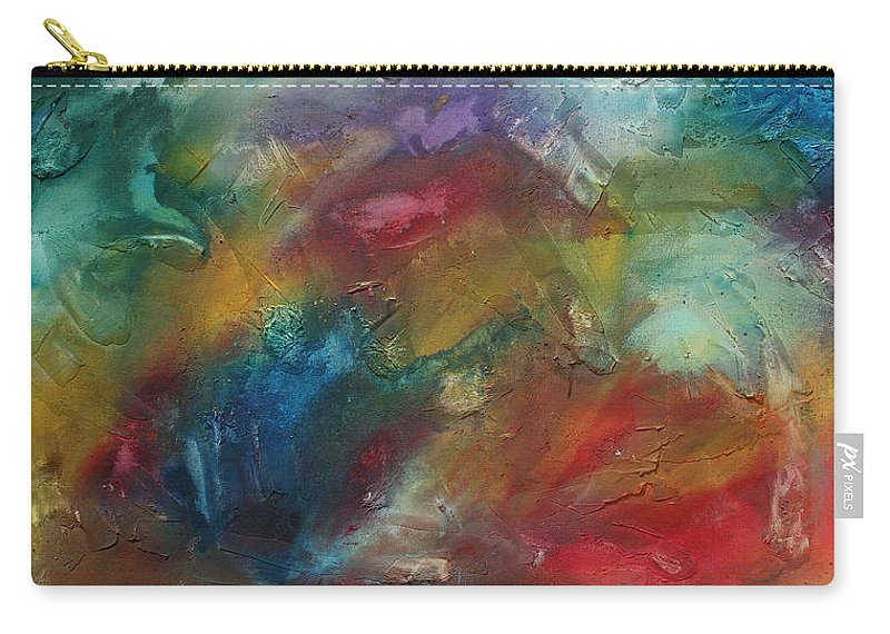 Wall Carry-all Pouch featuring the painting Rainbow Dreams By Madart by Megan Duncanson