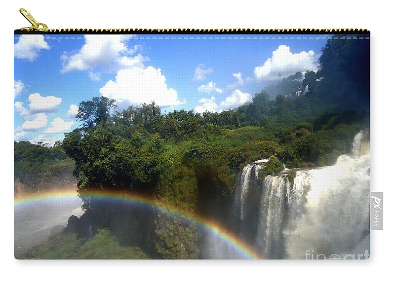 Falls Carry-all Pouch featuring the painting Rainbow by Helena Wierzbicki