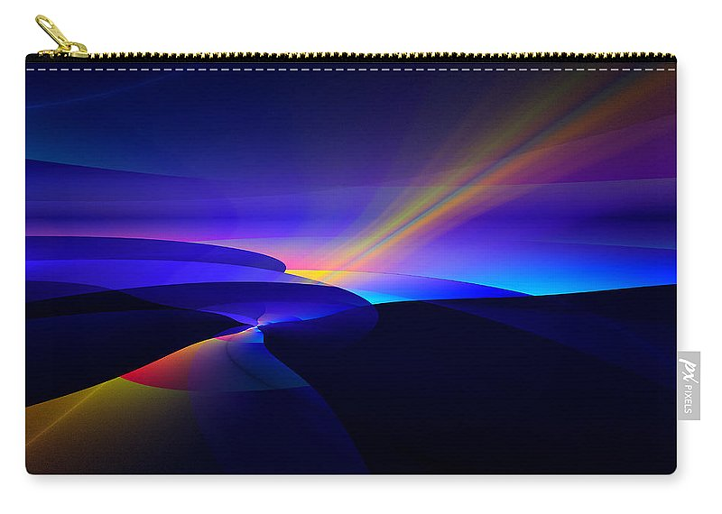 Digital Carry-all Pouch featuring the digital art Rainbow Pathway by GJ Blackman
