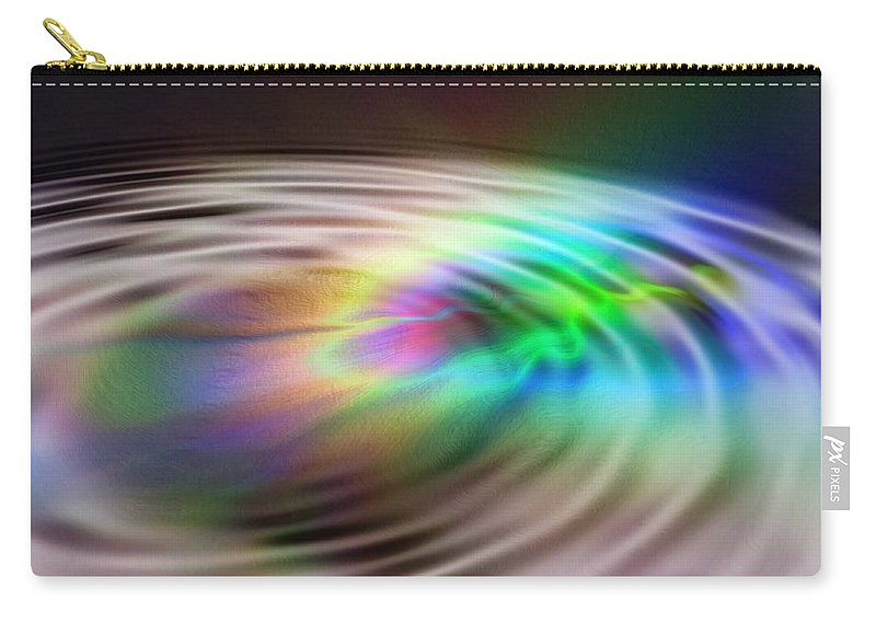 Abstract Carry-all Pouch featuring the digital art Rainbow Plunge by Richard Thomas