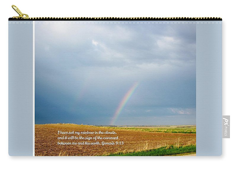 Rainbow Carry-all Pouch featuring the photograph Rainbow Promise by Gwen Thielges