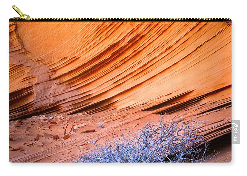 America Carry-all Pouch featuring the photograph Rainbow Rocks Dead Bush #1 by Inge Johnsson
