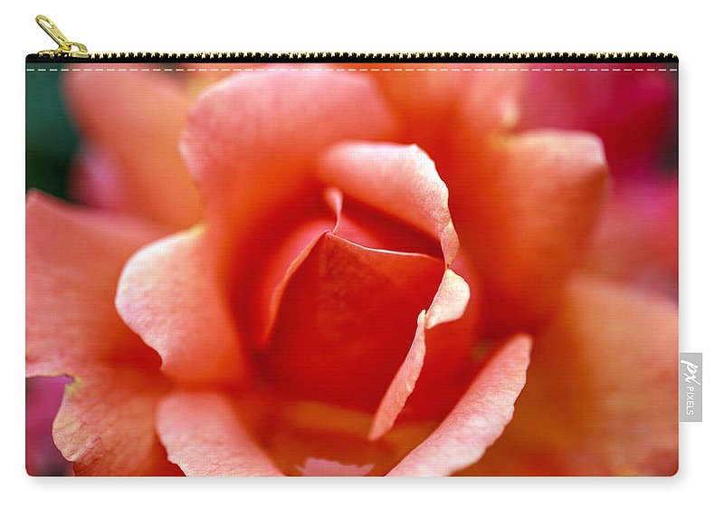 Bumble Bee Carry-all Pouch featuring the photograph Raindrop by Sennie Pierson