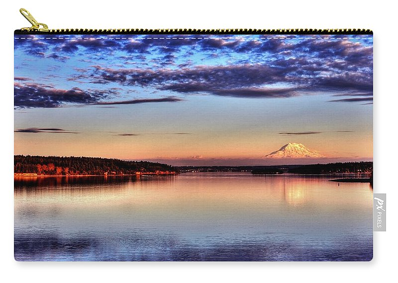 Mount Rainier Carry-all Pouch featuring the photograph Rainier Glory - Wide by Benjamin Yeager
