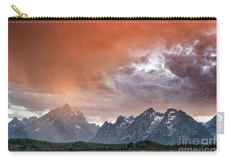 Tetons Carry-all Pouch featuring the photograph Raining Orange by Claudia Kuhn
