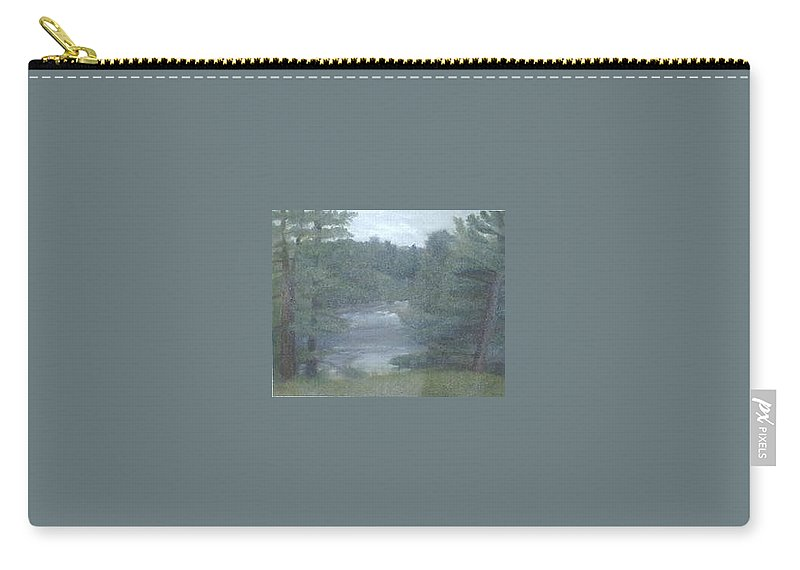 Rainy Carry-all Pouch featuring the painting Rainy Day Plein Aire by Sheila Mashaw