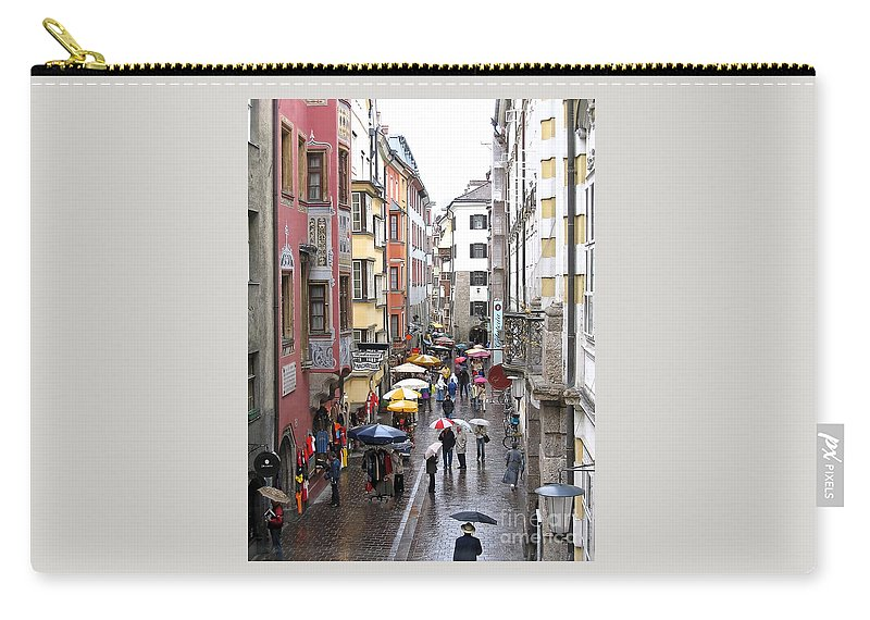 Innsbruck Carry-all Pouch featuring the photograph Rainy Day Shopping by Ann Horn