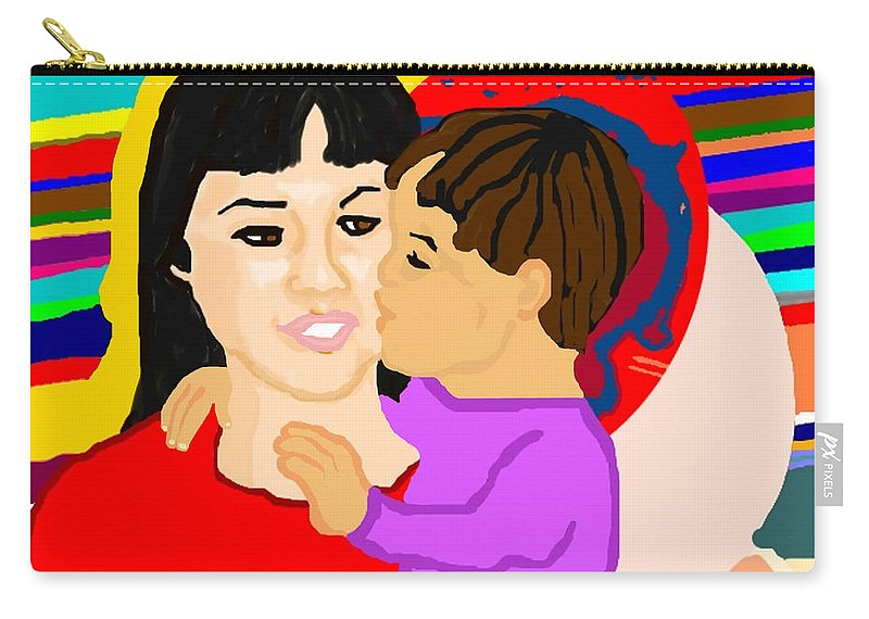 Family Carry-all Pouch featuring the painting Raising Son by Pharris Art