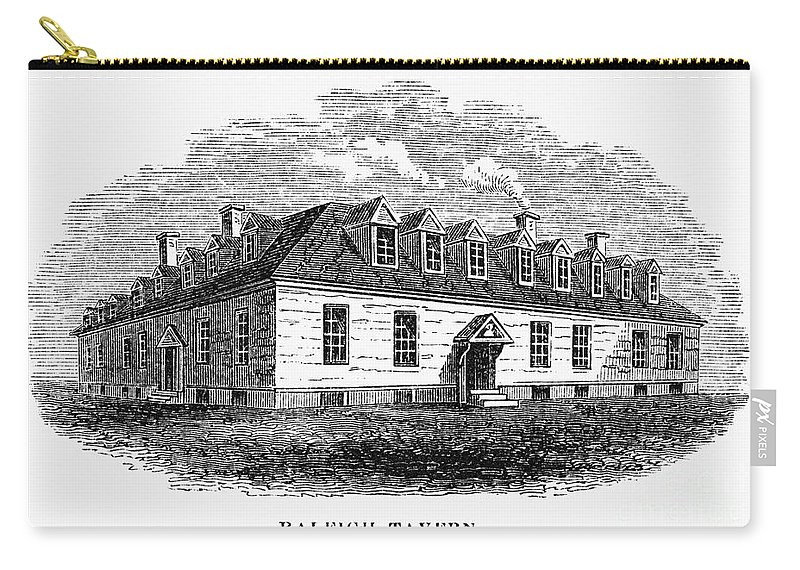 1770s Carry-all Pouch featuring the photograph Raleigh Tavern, 1770s by Granger