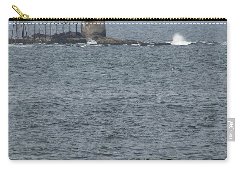 Ram Island Ledge Light Carry-all Pouch featuring the photograph Ram Island Ledge Light I by Christiane Schulze Art And Photography