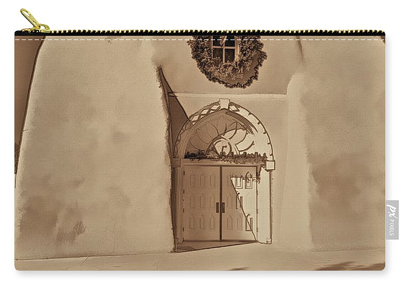 Ranchos Carry-all Pouch featuring the photograph Ranchos In Palladium by Charles Muhle