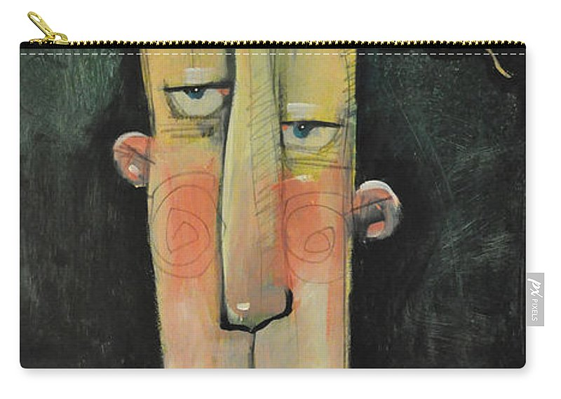 Man Carry-all Pouch featuring the painting Randy by Tim Nyberg