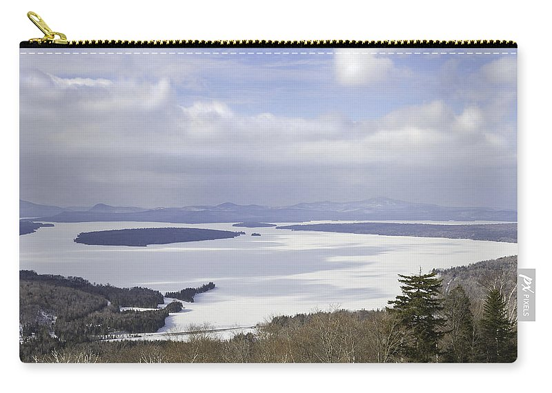 Maine Carry-all Pouch featuring the photograph Rangeley Maine Winter Landscape by Keith Webber Jr