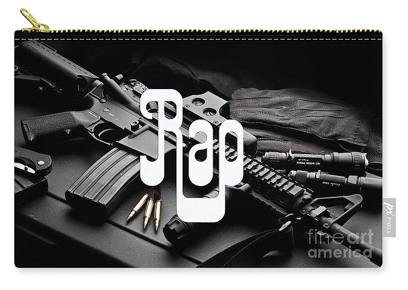 Rap Carry-all Pouch featuring the digital art Rap by Marvin Blaine