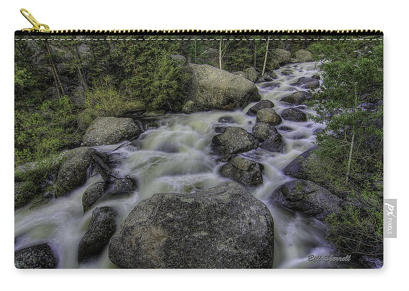 Waterfalls Carry-all Pouch featuring the photograph Rapid Change by Bill Sherrell