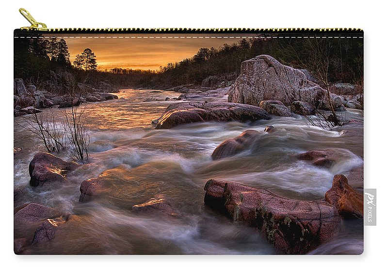 2010 Carry-all Pouch featuring the photograph Rapids At Dawn by Robert Charity