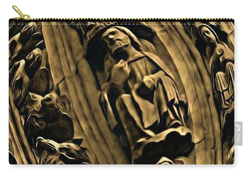 Statues Carry-all Pouch featuring the photograph Raptured Saints by John Malone