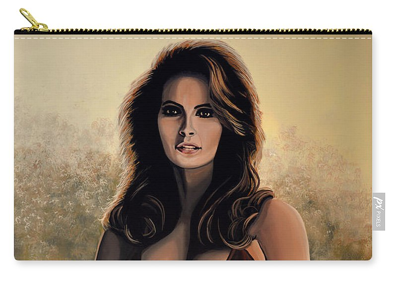 Raquel Welch Carry-all Pouch featuring the painting Raquel Welch 2 by Paul Meijering