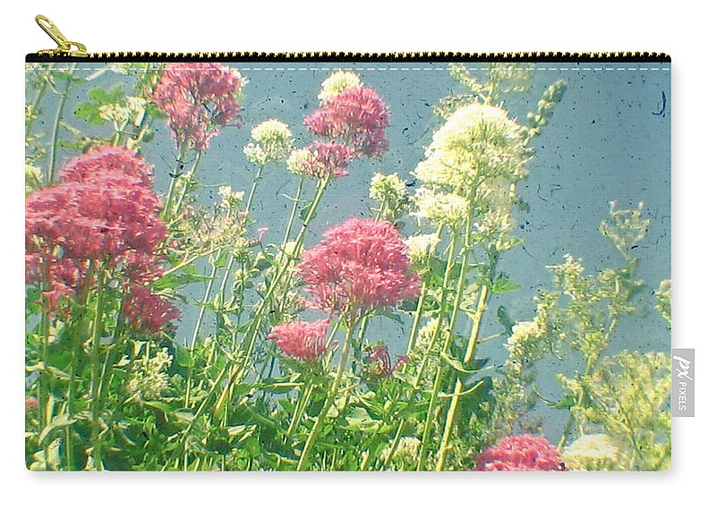 Flowers Carry-all Pouch featuring the photograph Raspberries And Cream by Cassia Beck
