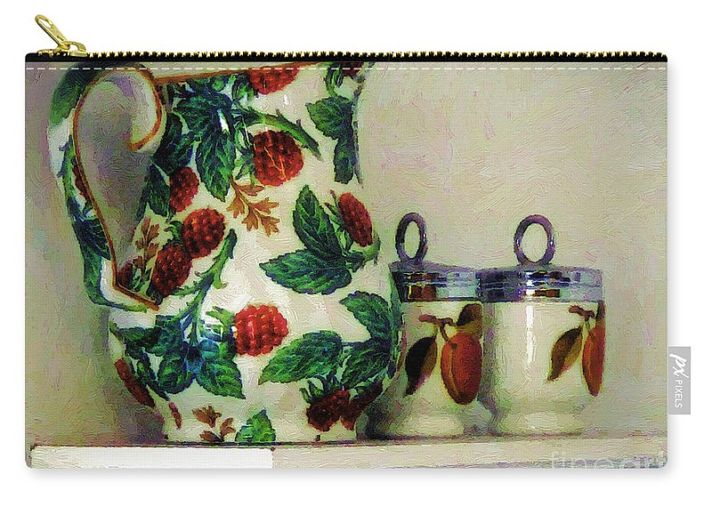 Pitcher Carry-all Pouch featuring the painting Raspberry Pitcher by RC DeWinter