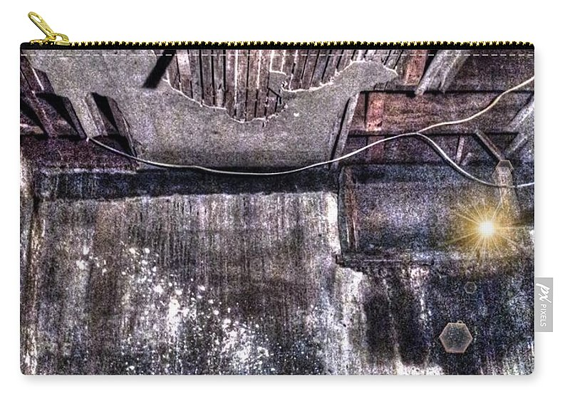 Heaven Carry-all Pouch featuring the digital art Ray Of Hope by Dan Stone