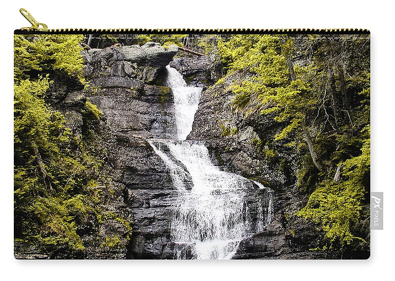 Raymondskill Carry-all Pouch featuring the photograph Raymondskill Falls In Milford Pa by Bill Cannon