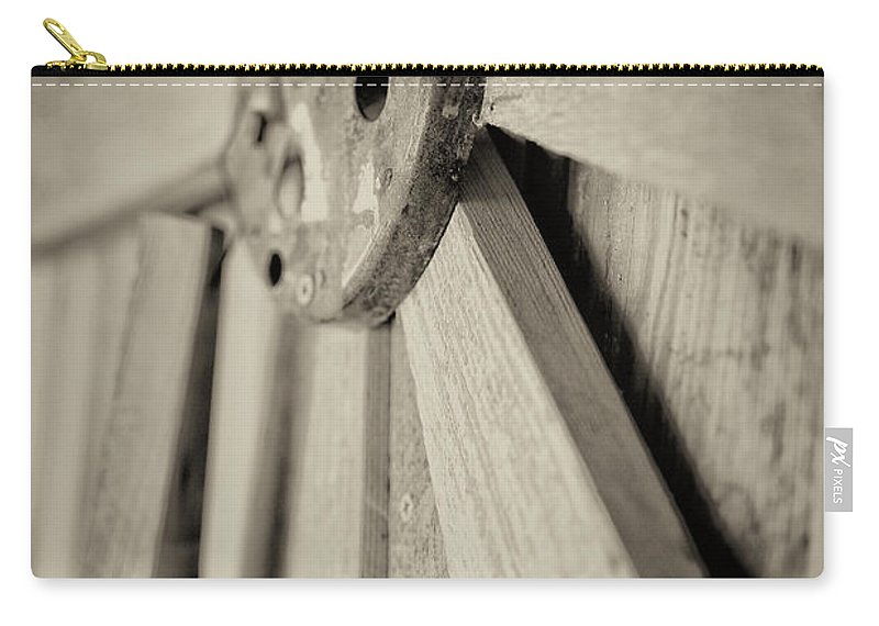 Wooden Art Carry-all Pouch featuring the photograph Rays by Erika Weber
