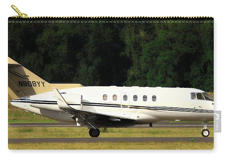 Aviation Carry-all Pouch featuring the photograph Raytheon Hawker 800xp by Aaron Berg