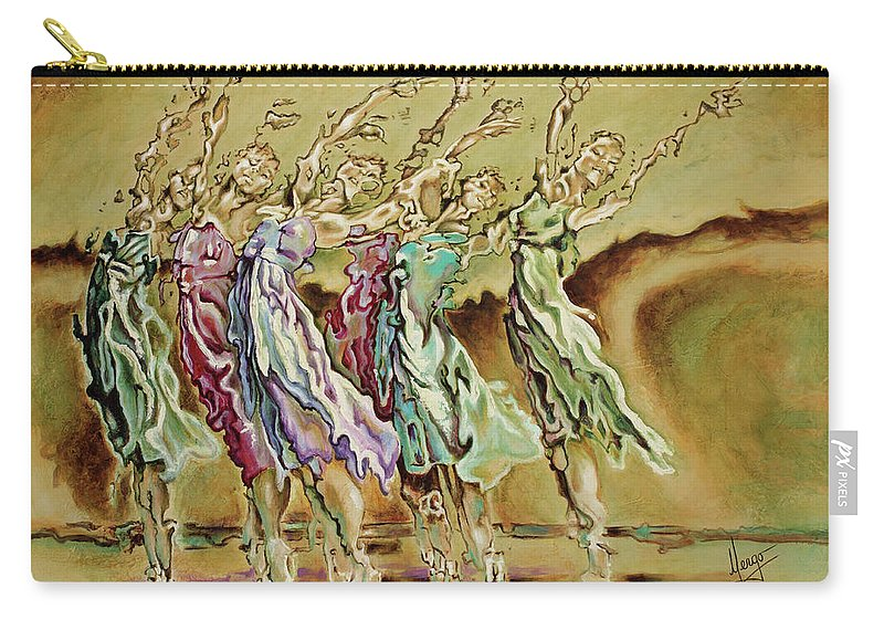 Ballet Carry-all Pouch featuring the painting Reach Beyond Limits by Karina Llergo