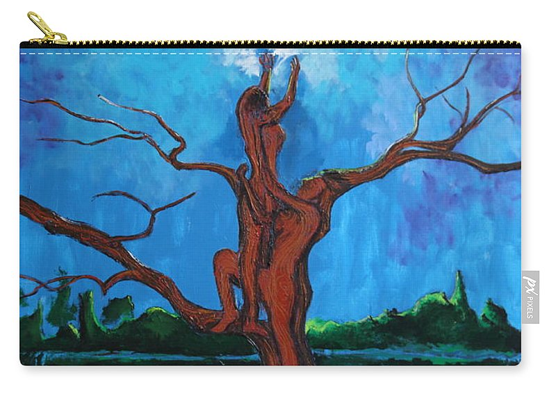 Landscape Carry-all Pouch featuring the painting Reach For The Light My Sister by Stefan Duncan