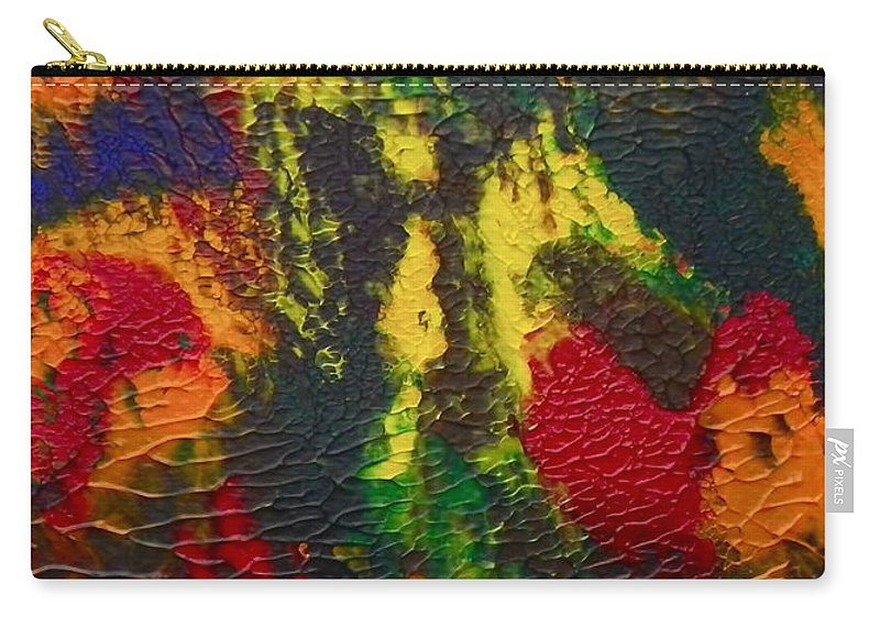 Acrylic Carry-all Pouch featuring the painting Reaching For The Stars by Anna Ruzsan