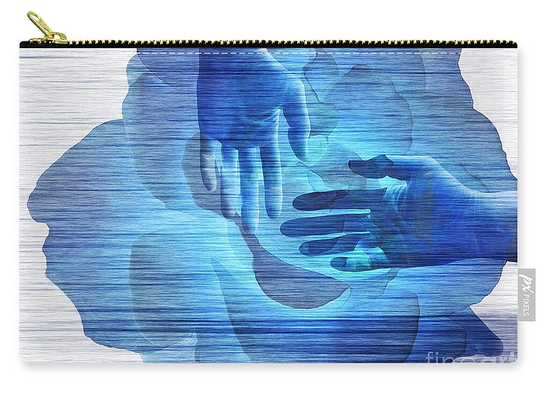 Surrealism Carry-all Pouch featuring the digital art Reaching In The Light by Fei A