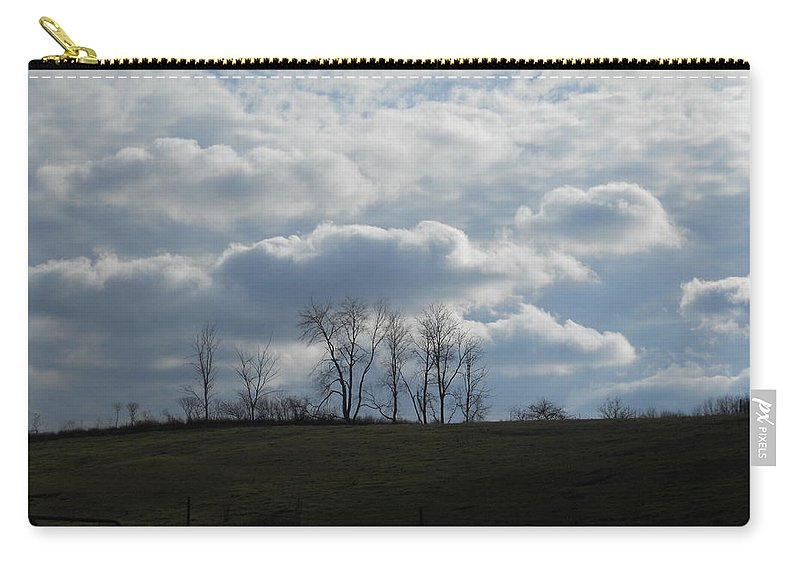 Clouds Carry-all Pouch featuring the photograph Reaching To The Clouds by Coleen Harty