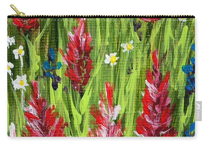 Grass Carry-all Pouch featuring the painting Reaching Up by Anastasiya Malakhova