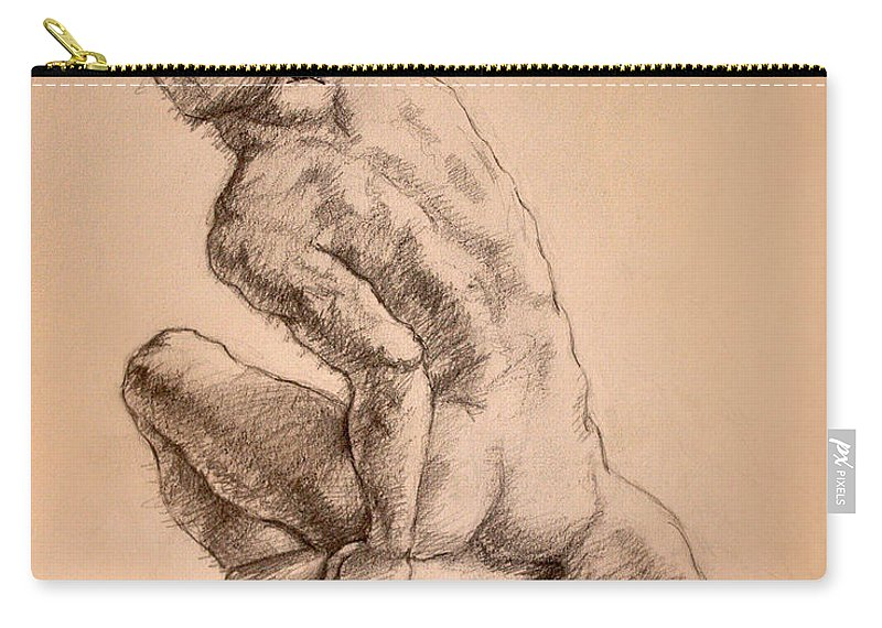Figurative Carry-all Pouch featuring the drawing Reaching Up by Sarah Parks
