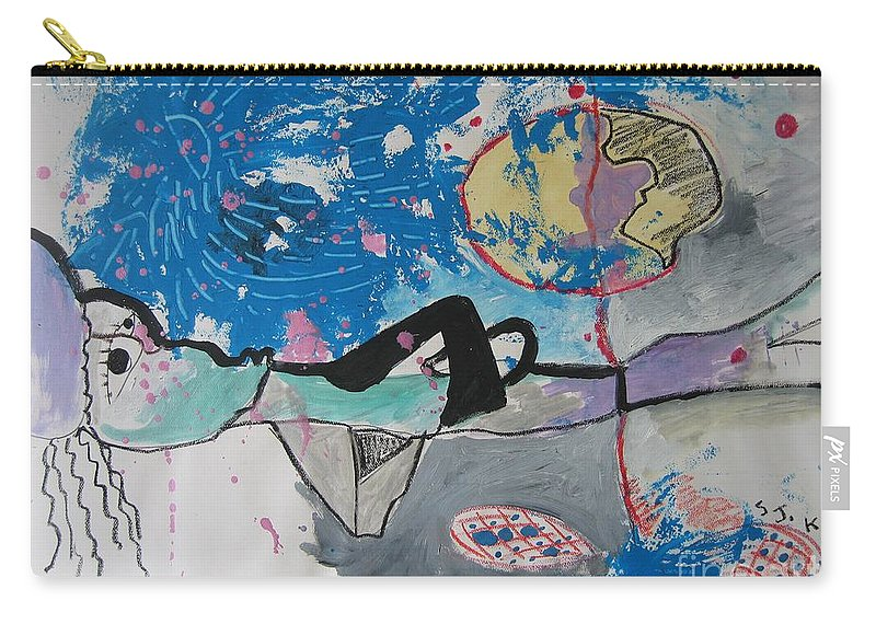 Abstract Paintings Carry-all Pouch featuring the painting Read My Mind2 by Seon-Jeong Kim