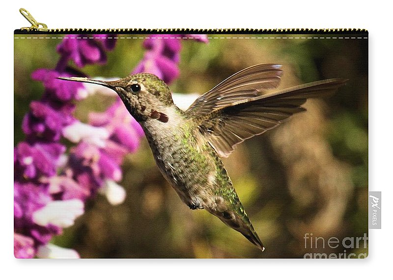 Point Reyes Carry-all Pouch featuring the photograph Ready For Nectar by Adam Jewell