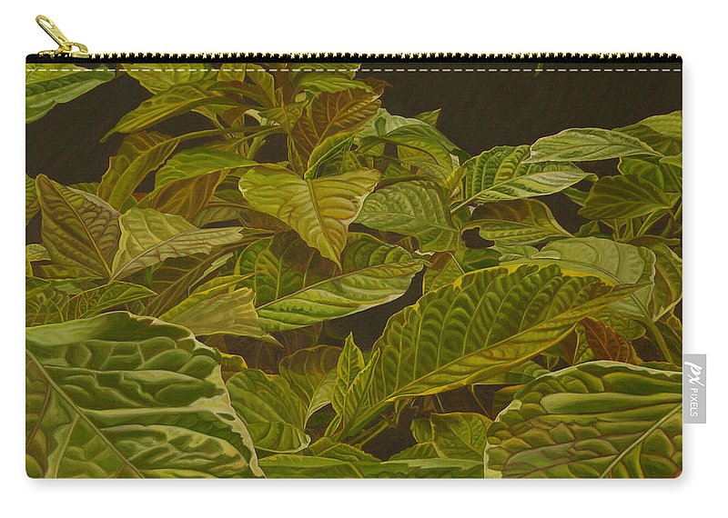 Plant Carry-all Pouch featuring the painting Ready For Spring by Thu Nguyen