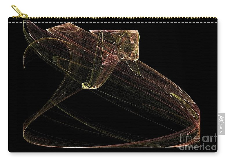 Snake Carry-all Pouch featuring the digital art Ready To Strike by Sara Raber