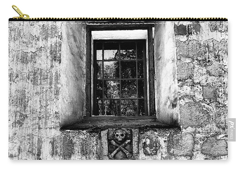 Santa Barbara Carry-all Pouch featuring the photograph Rear Window Bw Santa Barbara by William Dey