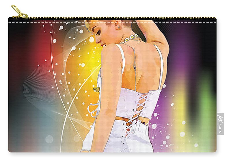 Miley Cyrus Carry-all Pouch featuring the digital art Rebel by Don Kuing