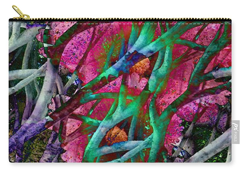 Abstract Carry-all Pouch featuring the digital art Rebirth by Yael VanGruber