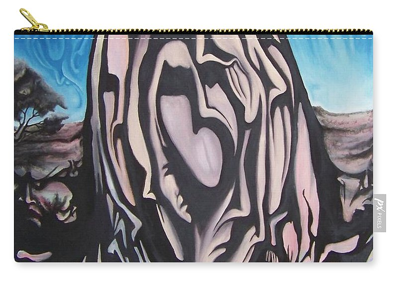 Tmad Carry-all Pouch featuring the painting Recluse by Michael TMAD Finney