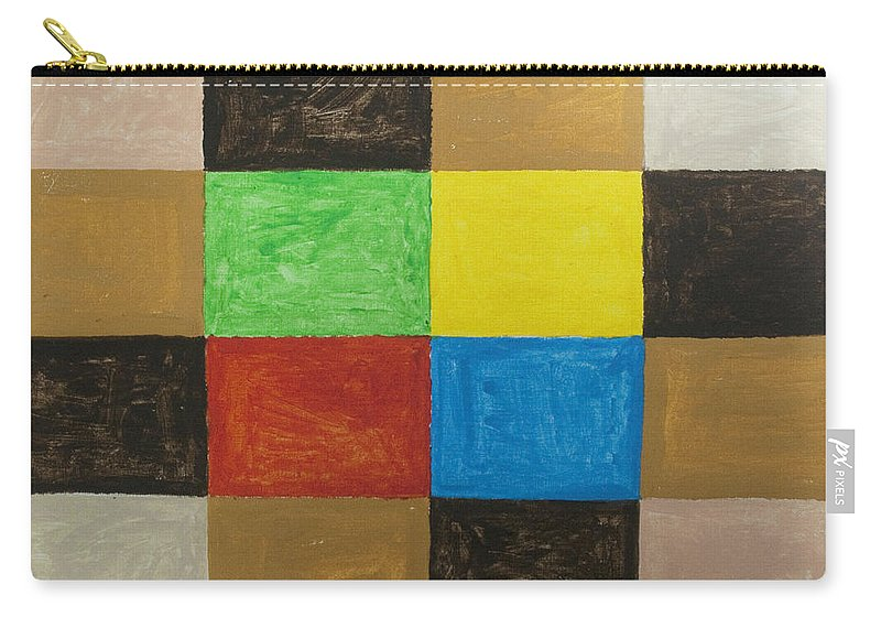 Rectangles Carry-all Pouch featuring the painting Rectangles by Stormm Bradshaw