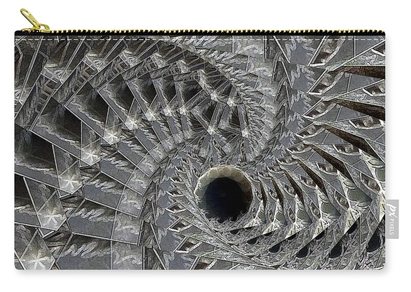 Abstract Carry-all Pouch featuring the digital art Recursion Arc by Ron Bissett